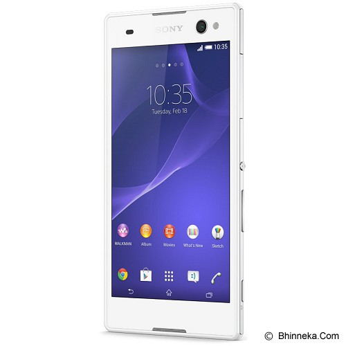 SONY Xperia C3 LTE Single [D2533] - White - Smart Phone Android